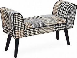 Tempo Kondela Designová lavice PEPITO TYP 7 - vzorovaná látka + kupón KONDELA10 na okamžitou slevu 10% (kupón uplatníte v košíku)