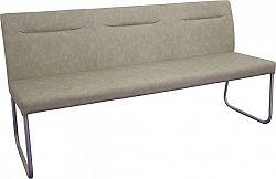 Tempo Kondela Designová lavice, šedohnědá ekokůže s efektem broušené kůže, INDRA typ 1 + kupón KONDELA10 na okamžitou slevu 10% (kupón uplatníte v košíku)