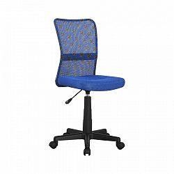 Tempo Kondela Dětská otočná židle GOFY, modrá/vzor/černá + kupón KONDELA10 na okamžitou slevu 3% (kupón uplatníte v košíku)