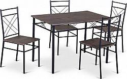 Tempo Kondela Jídelní set RAMET 1 + 4 - dřevo / černá + kupón KONDELA10 na okamžitou slevu 10% (kupón uplatníte v košíku)