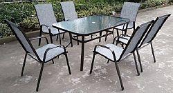 Tempo Kondela Jídelní stůl PASTER - tvrzené sklo / ocel + kupón KONDELA10 na okamžitou slevu 10% (kupón uplatníte v košíku)