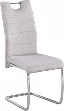 Tempo Kondela Jídelní židle ABIRA NEW - látka krémová/ chrom + kupón KONDELA10 na okamžitou slevu 10% (kupón uplatníte v košíku)
