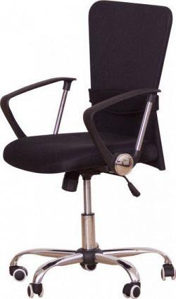 Tempo Kondela Kancelářská židle AEX - černá + kupón KONDELA10 na okamžitou slevu 10% (kupón uplatníte v košíku)