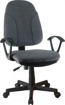 Tempo Kondela Kancelářská židle DEVRI - šedá látka + kupón KONDELA10 na okamžitou slevu 10% (kupón uplatníte v košíku)
