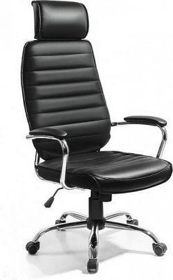 Tempo Kondela Kancelářské křeslo IZIDOR - černá ekokůže + kupón KONDELA10 na okamžitou slevu 10% (kupón uplatníte v košíku)