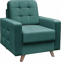 Tempo Kondela Křeslo MEDLIN - smaragdová/ořech + kupón KONDELA10 na okamžitou slevu 3% (kupón uplatníte v košíku)