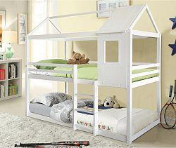 Tempo Kondela Montessori patrová postel ATRISA, 90x200 - bílá + kupón KONDELA10 na okamžitou slevu 3% (kupón uplatníte v košíku)