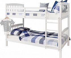 Tempo Kondela Patrová rozložitelná postel RAVELO - bílá + kupón KONDELA10 na okamžitou slevu 10% (kupón uplatníte v košíku)