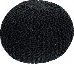 Tempo Kondela Pletený taburet GOBI TYP 1 - černá bavlna + kupón KONDELA10 na okamžitou slevu 10% (kupón uplatníte v košíku)