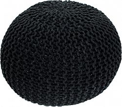 Tempo Kondela Pletený taburet GOBI TYP 2 - černá bavlna + kupón KONDELA10 na okamžitou slevu 10% (kupón uplatníte v košíku)