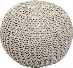 Tempo Kondela Pletený taburet GOBI TYP 2 - krémová bavlna + kupón KONDELA10 na okamžitou slevu 10% (kupón uplatníte v košíku)
