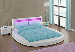 Tempo Kondela Postel BLESS s RGB LED osvětlením  - bílá + kupón KONDELA10 na okamžitou slevu 10% (kupón uplatníte v košíku)