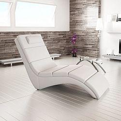 Tempo Kondela Relaxační lehátko LONG - bílá + kupón KONDELA10 na okamžitou slevu 10% (kupón uplatníte v košíku)