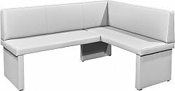 Tempo Kondela Rohová lavice MODERN bílá - PRAVÁ + kupón KONDELA10 na okamžitou slevu 10% (kupón uplatníte v košíku)