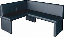 Tempo Kondela Rohová lavice MODERN černá - LEVÁ + kupón KONDELA10 na okamžitou slevu 10% (kupón uplatníte v košíku)