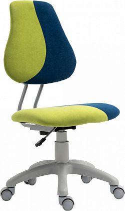 Tempo Kondela Rostoucí otočná židle RAIDON - zelená/modrá/šedá + kupón KONDELA10 na okamžitou slevu 3% (kupón uplatníte v košíku)