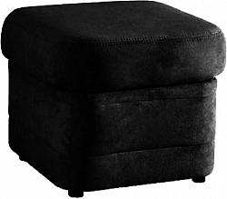 Tempo Kondela Taburet BITER - černá ekokůže + kupón KONDELA10 na okamžitou slevu 10% (kupón uplatníte v košíku)