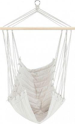 Tempo Kondela Závěsné houpací křeslo PLATO - bílá + kupón KONDELA10 na okamžitou slevu 3% (kupón uplatníte v košíku)