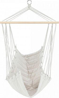 Tempo Kondela Závěsné houpací křeslo PLATO NEW - bílá + kupón KONDELA10 na okamžitou slevu 3% (kupón uplatníte v košíku)