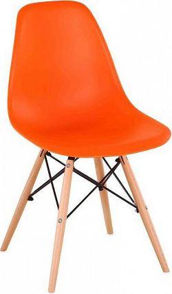 Tempo Kondela Židle CINKLA 3 NEW - oranžová / buk + kupón KONDELA10 na okamžitou slevu 3% (kupón uplatníte v košíku)