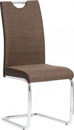 Tempo Kondela Židle IZMA - hnědá ekokůže / hnědá látka + kupón KONDELA10 na okamžitou slevu 10% (kupón uplatníte v košíku)