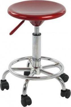 Tempo Kondela Židle MABEL 2 NEW - červená / chrom