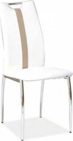 Tempo Kondela Židle SIGNA - bílá / béžová ekokůže