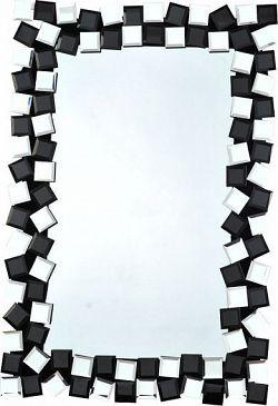 Tempo Kondela Zrcadlo ELISON TYP 8 - černá / bílá + kupón KONDELA10 na okamžitou slevu 10% (kupón uplatníte v košíku)