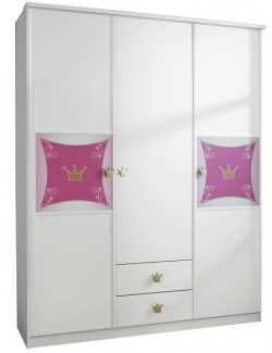 Dětská šatní skříň Kate, 3-dveřová