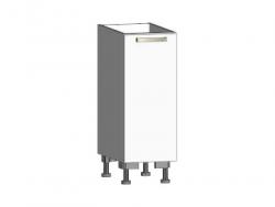 Dolní kuchyňská skříňka One ES30, pravá, bílý lesk, šířka 30 cm