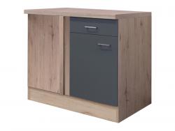 Dolní rohová kuchyňská skříňka Tiago UEBE110, dub sonoma/šedá, šířka 110 cm