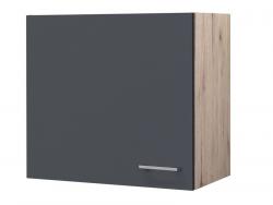 Horní kuchyňská skříňka Tiago H60, dub sonoma/šedá, šířka 60 cm