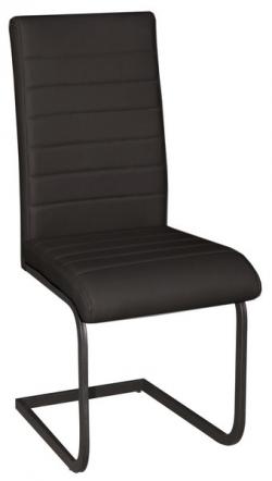 Jídelní židle Arden, černá ekokůže