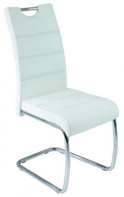 Jídelní židle Flora, bílá ekokůže
