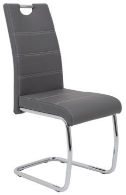Jídelní židle Flora, šedá ekokůže