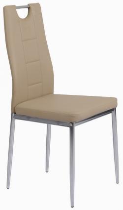 Jídelní židle Melanie, béžová ekokůže