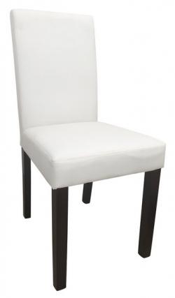 Jídelní židle Rudy, bílá ekokůže