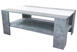 Konferenční stolek AS-56, beton/bílá