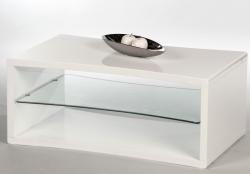 Konferenční stolek Curve, bílý lesk