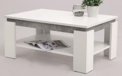 Konferenční stolek Tim 2, bílá/šedý beton