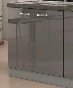 Kuchyňská dřezová skříňka Grey 80ZL, 80 cm