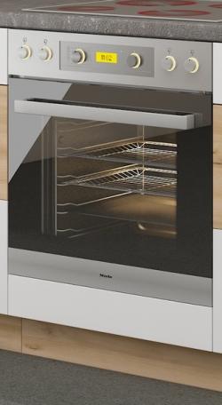 Kuchyňská skříňka pro vestavnou troubu Iconic 60DG, buk iconic/bílý lesk, šířka 60 cm