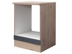 Kuchyňská skříňka pro vestavnou troubu Tiago HU60, dub sonoma/šedá, šířka 60 cm