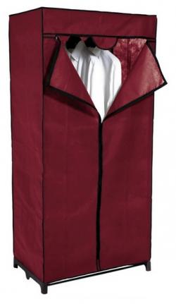 Látková skříň Revow 8052, vínová