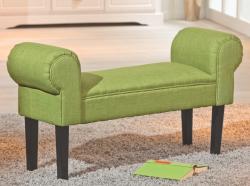 Lavice Norset, zelená tkanina