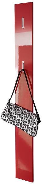 Nástěnný věšák Color panel, červený lesk