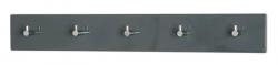 Nástěnný věšák Edmond 42157, šedý lesk