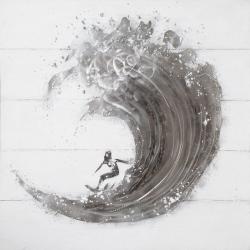 Obraz na zeď Rimbo - Wave 100x100 cm
