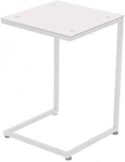 Přístavný stolek Denise, bílý