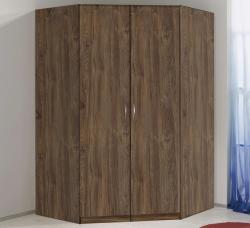 Rohová šatní skříň Case, dub stirling